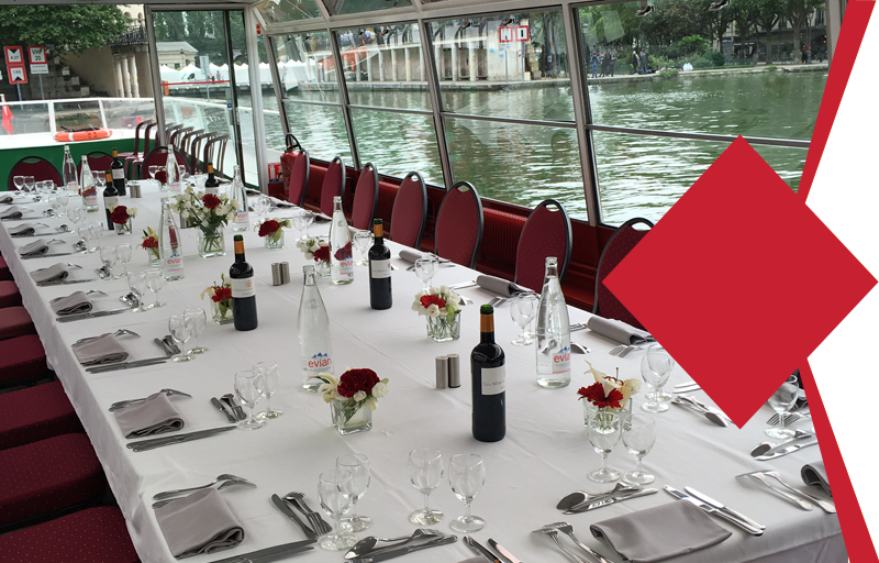"Incentive cruise in Paris - ""Courtier Menu"" Package"