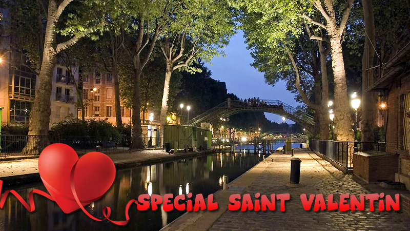 Lover's cruise by the Canal Saint Martin