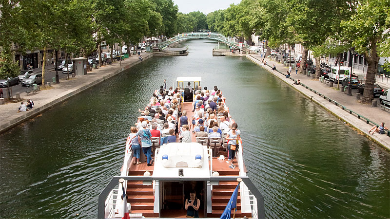 Discovery cruise of the Canal Saint Martin