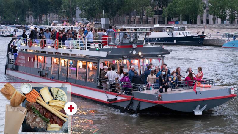 Croisière la Guinguette Parisienne gourmande sur la Seine