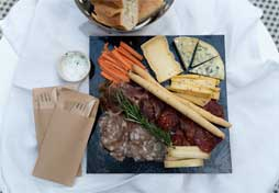 french charcuterie board and cheeses